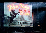 Van Nuys Drive-In exterior screen tower