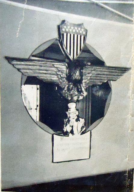Fox Lido Theatre lobby display during World War II (1942)