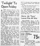 Newspaper article from The Daily Oklahoman 10 Sept. 1950, about Twi-Light Gardens opening