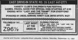 Eastside Final Ad - September 19, 1987
