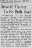 Eastside Article - September 26, 1947