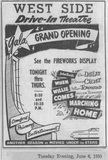 Westside Grand Opening Ad - June 6, 1950