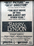 "Ziegfeld Theatre ""Barry Lyndon"" engagement"