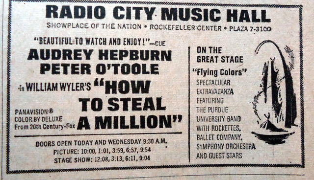 "Radio City Music Hall ""How to Steal a Million"" engagement"
