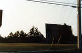 The screen of Midway Drive-In 1 as seen from Beach Blvd. (1982)