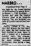 Marbro Drive-In Grand Opening