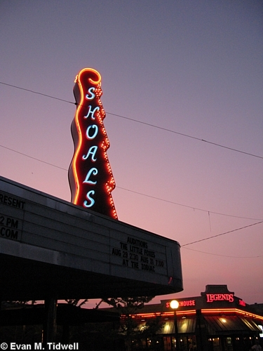 Shoals Theater Marquee