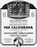 California Theatre reopening Ad 2 October, 1930