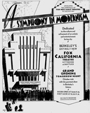 California Theatre reopening ad 1.  October, 1930