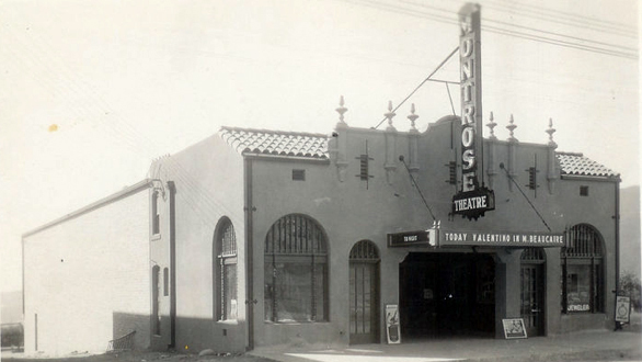 1924 shot of the Montrose Theater