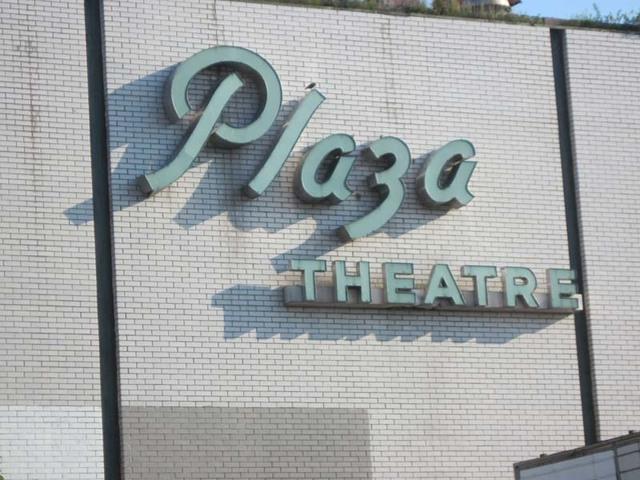 Plaza Theatre CLose Up of Original Sign