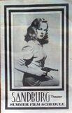 Sandburg schedule from the 1980s