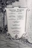 1927 Grand Opening program photo credit Grand Theatre Wausau Facebook page.