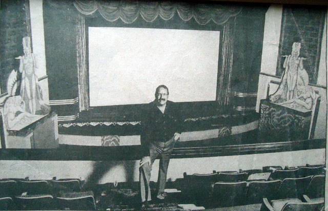 Joe Musil in the balcony of the Fox West Coast Theatre for the Farewell to the Fox last show.