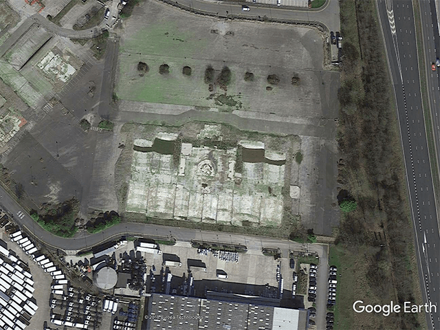 Vue Bury – Satellite Photo of Demolished Multiplex.