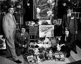 Shriners 'Toys for Tots' toy drive at the Century Theatre, Dec 21, 1955.
