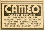 JFK observance, Waterbury American November 25, 1963.