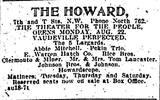 Original opening print ad credit Washington Star, August 22, 1910.