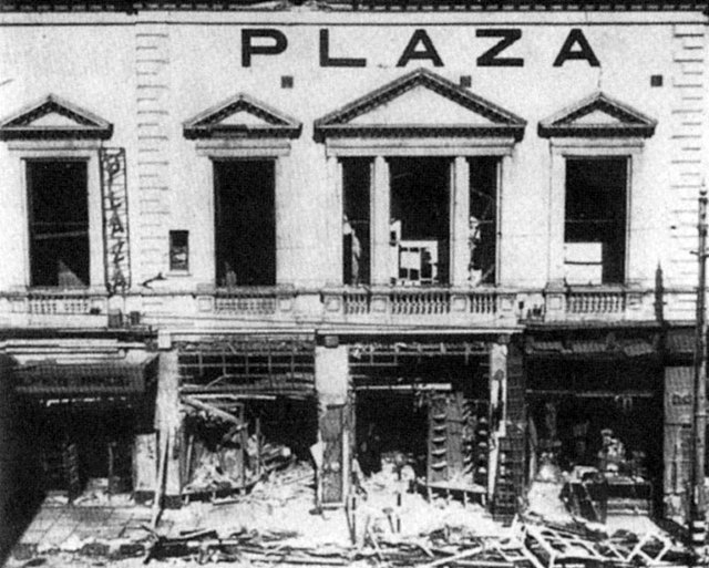 WWII bomb damaged 'Plaza' Hastings UK Theatre