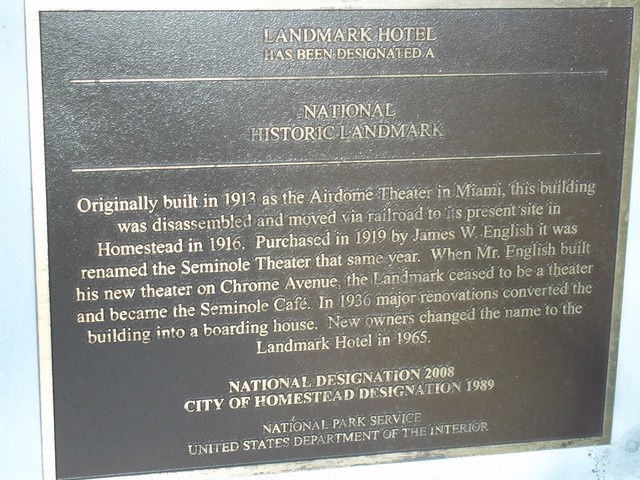 Seminole Theater historical marker