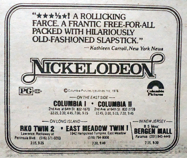 Columbia Twin Theatres newspaper ad