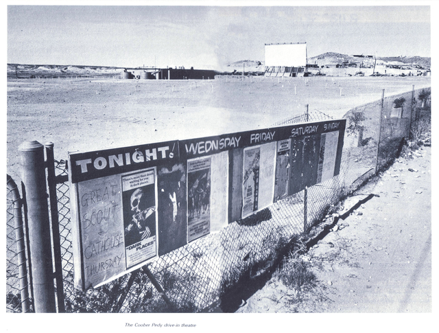 THE COOBER PEDY DRIVE - IN THEATRE - SOUTH AUSTRALIA - 1970's