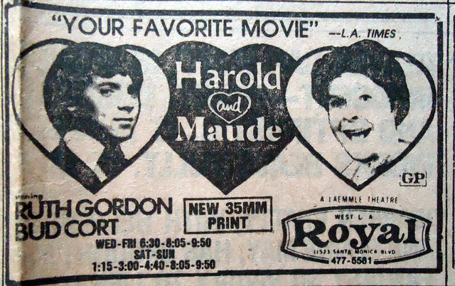 "Royal Theatre's ""Harold and Maude"" return re-engagement"