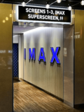 Cineworld Hemel Hempstead – Backlit IMAX sign, overhead sign for Screens 1-3, Superscreen, and Toilets.
