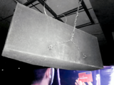 Cineworld Hemel Hempstead – IMAX Auditorium – Suspended IMAX Rear Speaker (Back view).