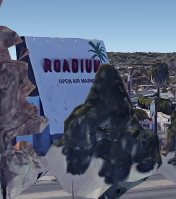 the back of the screen which says roadium open air market