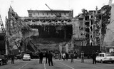 Paramount Theatre exterior being razed