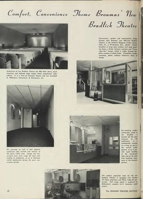 July 1965 Box Office magazine full-page spread on the Bradlick courtesy of Andrew Ratliff.