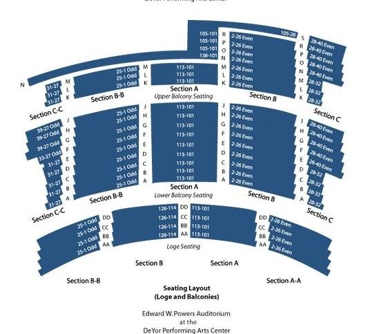Balcony Seating Chart