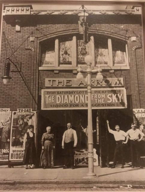 Arrow Theatre with owners Alfred and Ethel Colson
