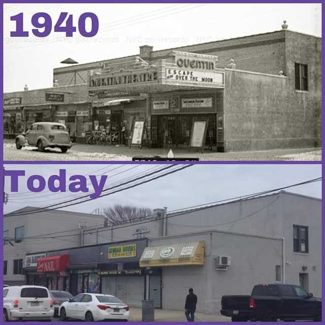 Quentin Theater 1940 and 2018