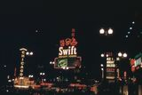 1953 collage photo with the Chicago, Telenews & Rialto theatres.