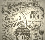 Three Stooges and Buddy Rich Appearance - 1942