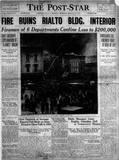 1925 Post-Star Newspaper.