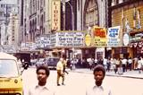 New Amsterdam marquee far left. 1972 photo via Photographs From The 1970s Facebook page.