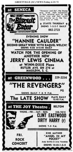 Greenville SC News 6/23/72 - Mauldin Jerry Lewis to open