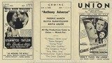 Union Theater Program for the week of October 18, 1936