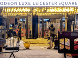 Odeon Leicester Square – Refurbishment – View into Ground Floor Foyer from Leicester Square.