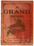 Grand Theatre Souvenir Opening Program via Tim Abraham.