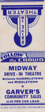 "[""Midway Drive-In Theatre matchbook cover Thomas J Brendel Collection""]"