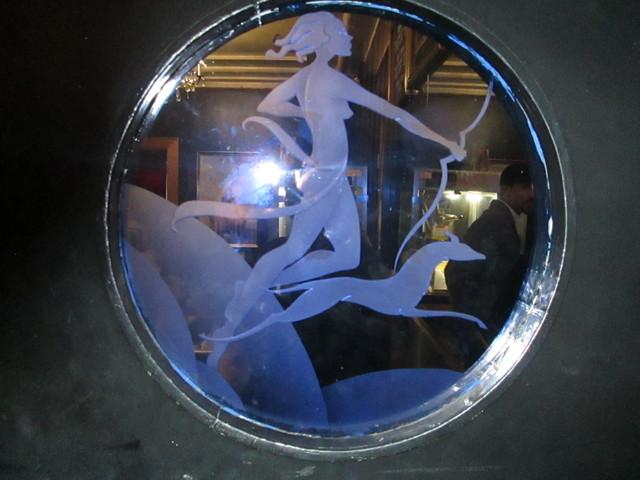Deco Window Doors Into Vogue Theatre From Lobby