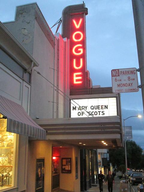 Neon Marquee Vogue Theatre SF CA
