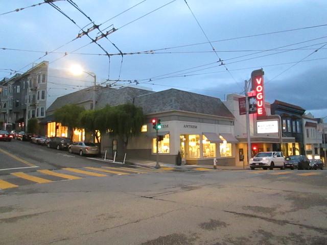 Outside Vogue Theatre SF CA
