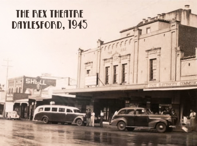 THE REX THEATRE DAYLESFORD VICTORIA, AUSTRALIA at WARS END 1945