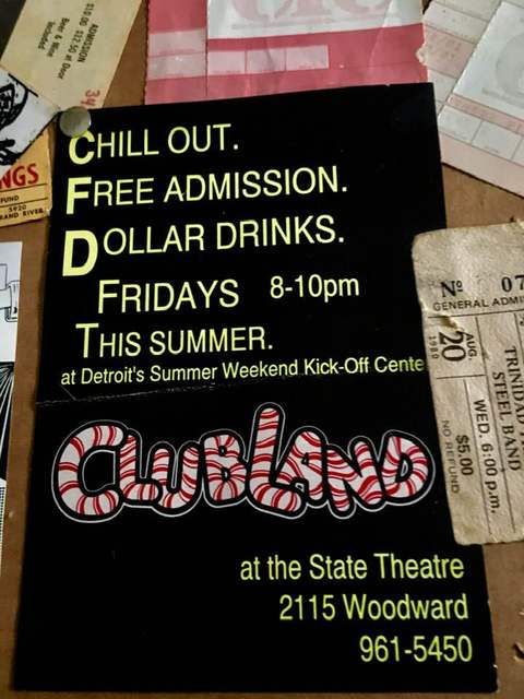 Promotional poster for Clubland at the State Theatre, photo credit Geri Gillespie.