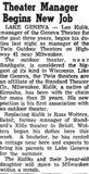 ELLIS Theatre; Beloit, Wisconsin.